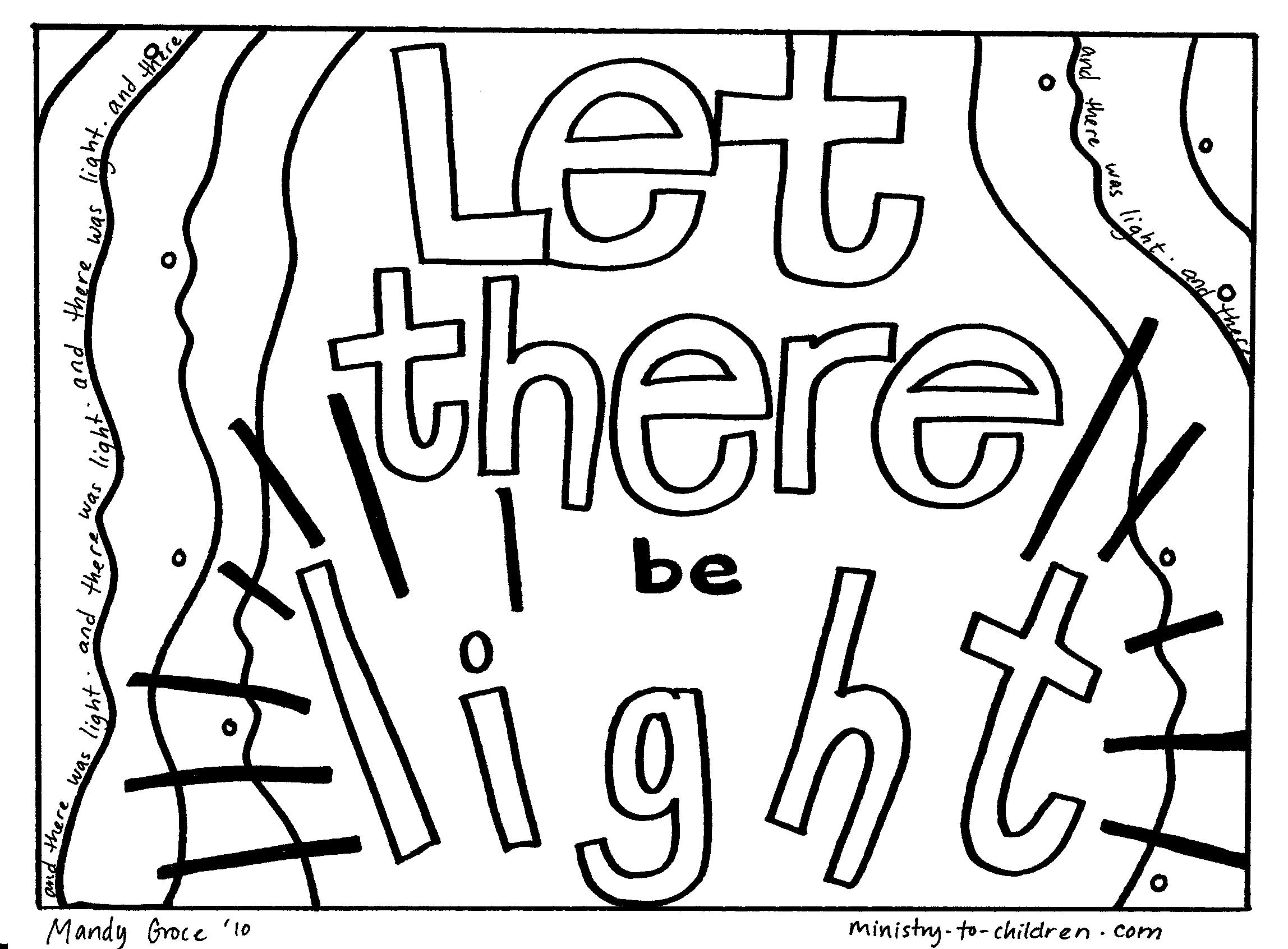 god created light coloring pages - photo#5